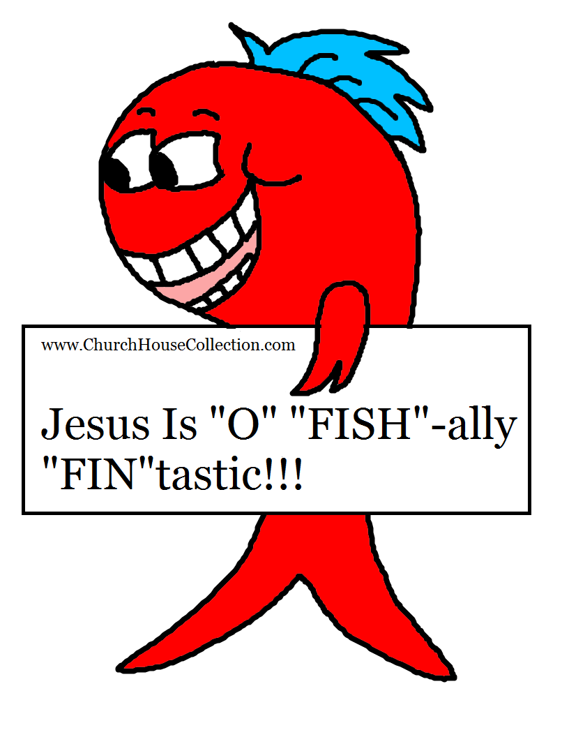 Jesus Is O Fishally Fintastic Fish Cutout Craft