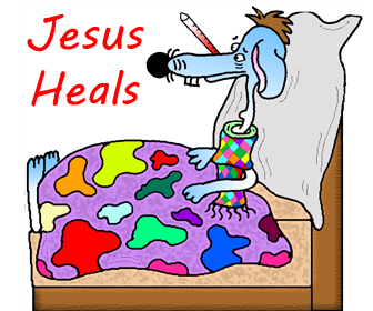 Dog Sunday School Crafts- Children's Church Cutouts Crafts For Kids- Sick Dog With Thermometer In His Mouth In Bed