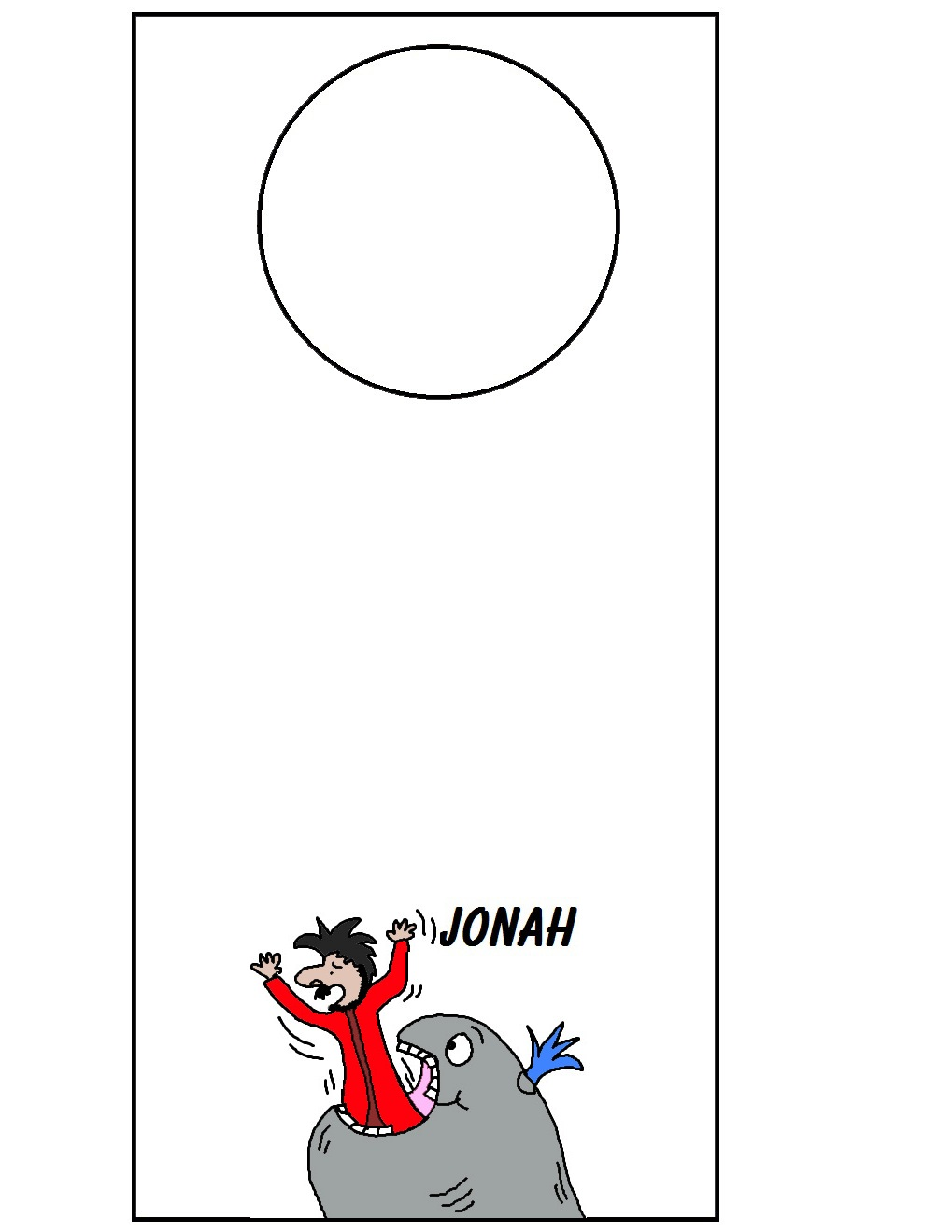 Jonah sunday school craft - Jonah And The Whale Doorknob Template