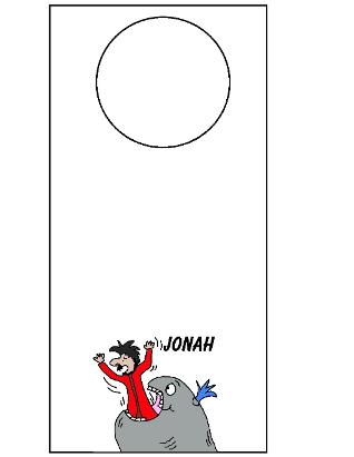 Jonah And The Whale Doorknob Hanger