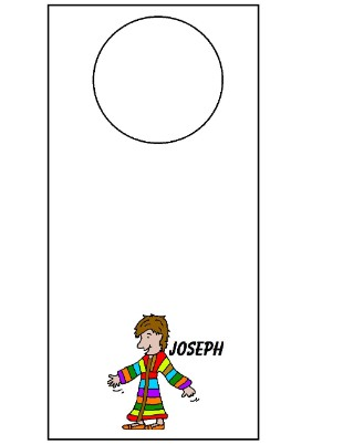 Joseph and The Coat Of Many Colors  Doorknob Hanger
