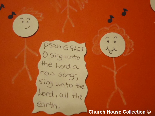 Kids Singing Praise To The Lord Craft Psalms 96:1  O sing unto the LORD a new song: sing unto the LORD, all the earth.