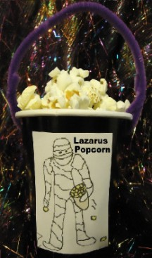 Lazarus Popcorn Holder Craft