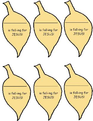 Falling For Jesus Name Tags, Fall Leaves Name Tags