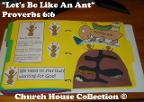 Let's be like an ant folder lapbook Sunday school childrens church