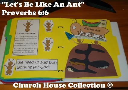 Let's be like an ant lapbook for Sunday school children's church ant hill crafts for kids