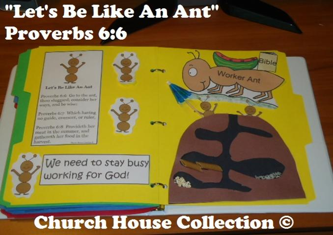 Let's Be Like An Ant Sunday School Lapbook | Sunday School Crafts