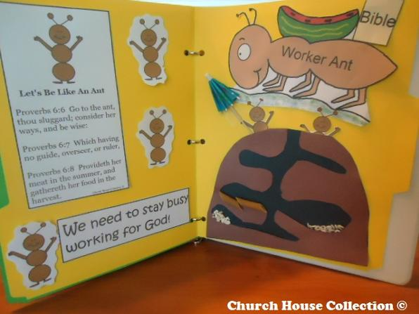 Sunday School Lapbook Idea For Let's Be An Ant by Church House Collection