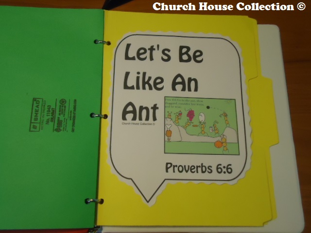 Let's be like an ant lapbook craft for sunday school or children's church proverbs 6:6
