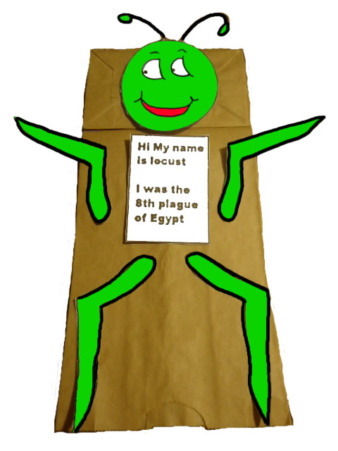 The Ten Plagues of Egypt Locust Grasshopper Paper Lunch Bag Craft