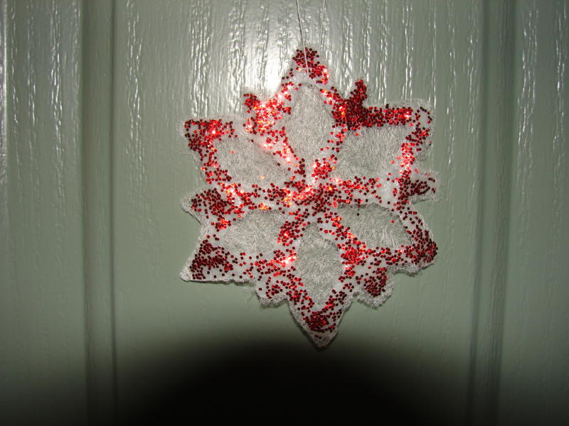 Dryer Sheet Snowflake Ornament