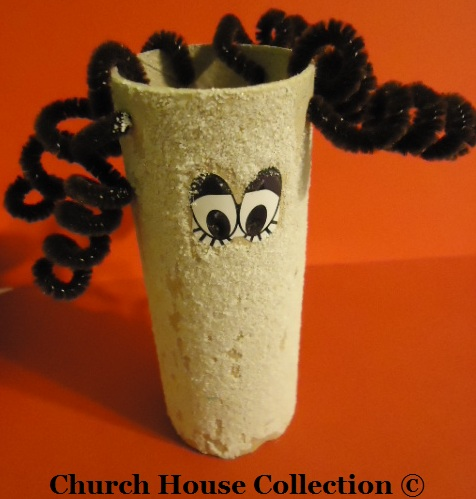 Lot's wife turned into a pillar of salt toilet paper roll craft