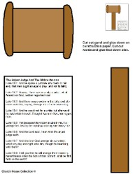 The parable of the importunate widow woman and unjust judge craft activity sheet cutout
