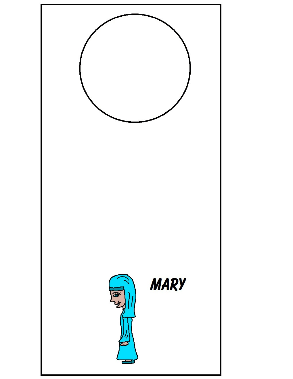 Mary Doorknob Hanger