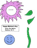 Mother's Day Flower Crafts Honor Thy Mother and Father Matthew 19:19
