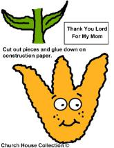 Mother's Day Cutout Sheet For Sunday school