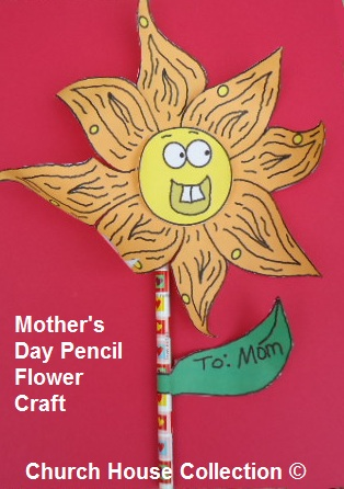 Mother's Day Flower Pencil Craft