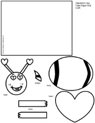 Valentien's Day Bee Toilet Paper Roll Craft