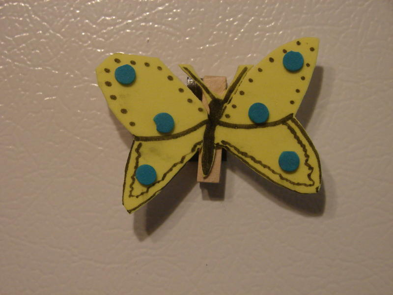 butterfly craft, sunday school crafts, buterfly crafts, crafts, crafts for kids, born again crafts, born again magnet craft