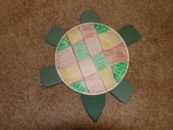 Father's Day Paper Plate Turtle Craft