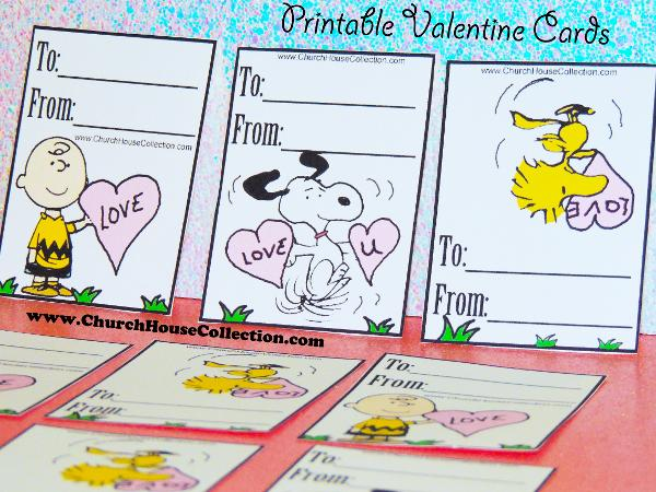 Peanuts Gang Snoopy Woodstock and Charlie Brown Valentine's Day Cards Printable Templates For Kids. Crafts For Kids.