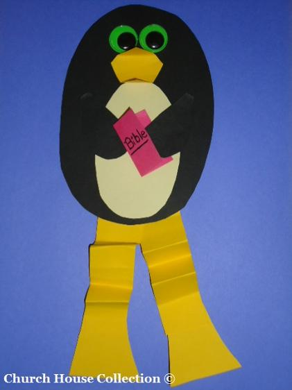 Penguin Holding  Bible Craft