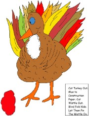 Pin The Wattle On The Turkey Game