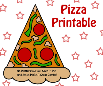 Pizza Sunday School Crafts- Childrens Church Crafts- Printable Template Cutout For Kids