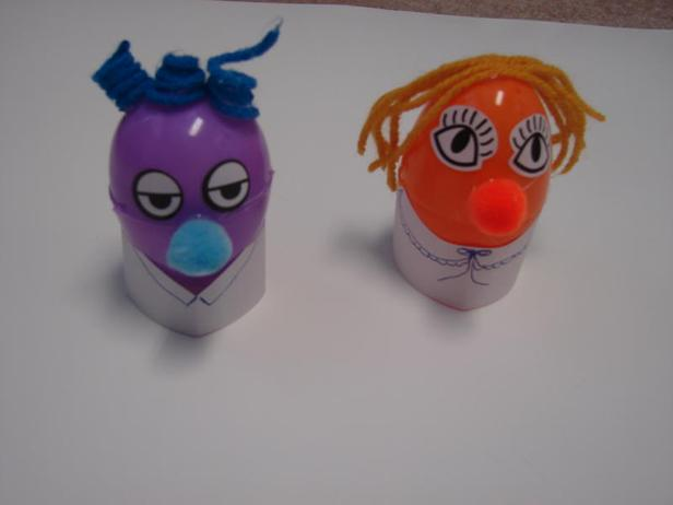 Easter Sunday School Crafts | Church House Collection | On Egg-actly Like You | Plastic Easter Eggs With Faces And Yarn Hair
