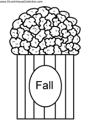 Popcorn Template Printable With the word FALL on it.