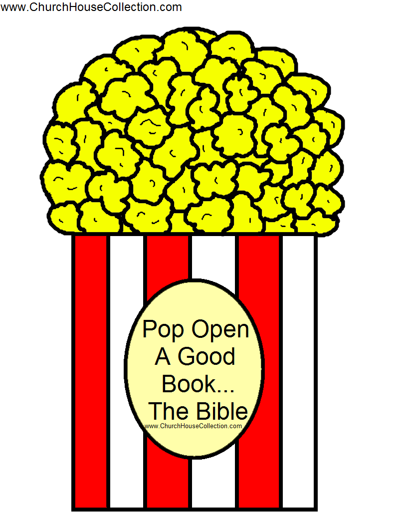 image regarding Printable Popcorn Template known as Pop Open up A Positive Ebook The Bible Popcorn Template