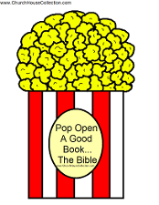 Popcorn Printable Template Pop Open A Good Book...The Bible