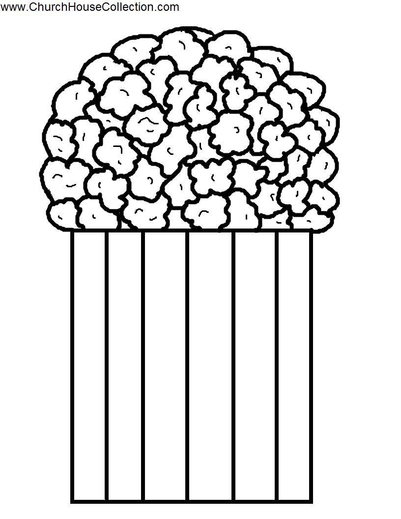 Pop Corn Template