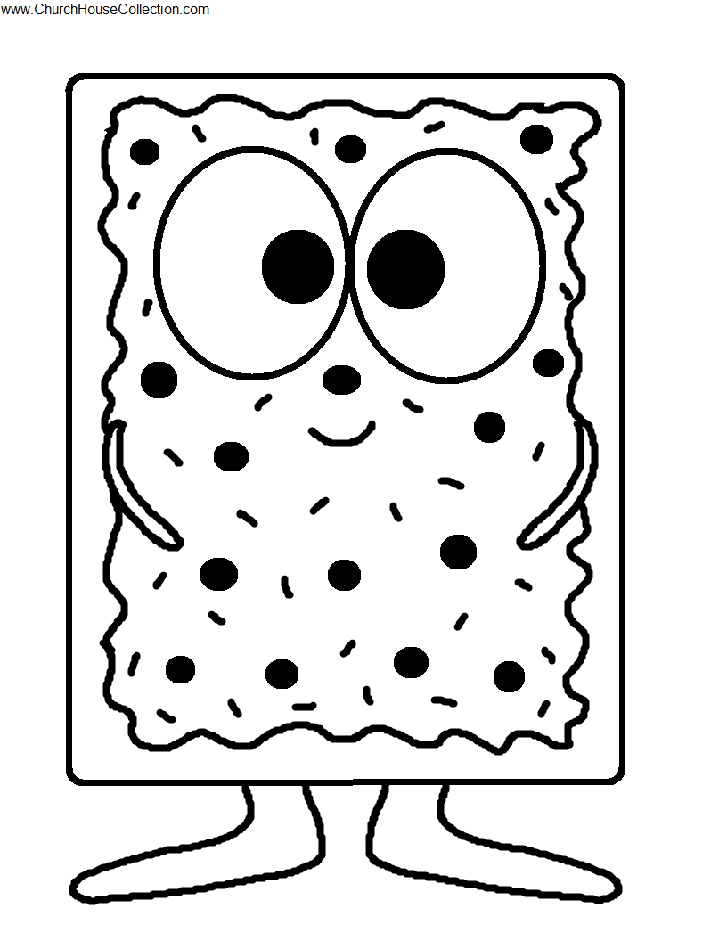 Pop Tart Coloring Page