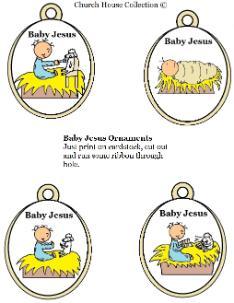 printable baby jesus ornaments template