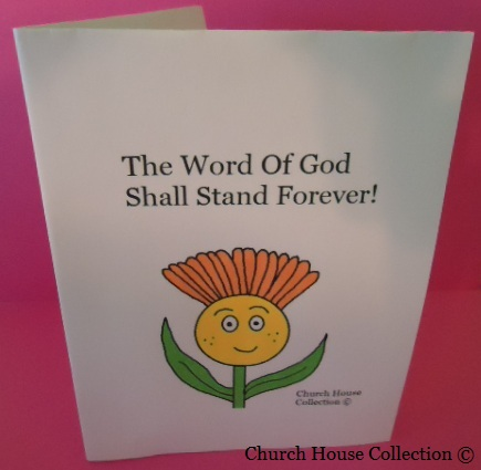 Flower Card Crafts- Isaiah 40:8 The word of God shall stand forever- Spring Crafts