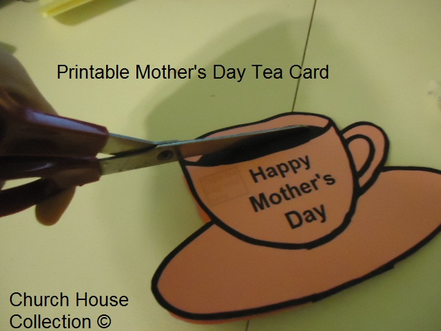 Printable Mother's Day  Tea Cup Card