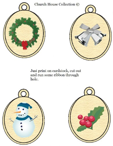 Printabel Ornaments For Kids
