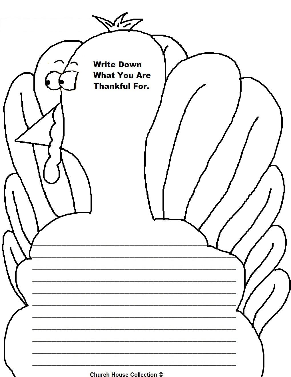 Printable Turkey Writing Paper