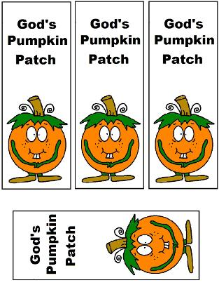 God's Pumpkin Patch Bookmarks