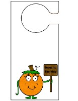Pumpkin Holding Sign