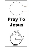 Pumpkin Pray To Jesus  Doorknob Hanger