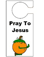 Pumpkin Praying  Doorknob Hanger