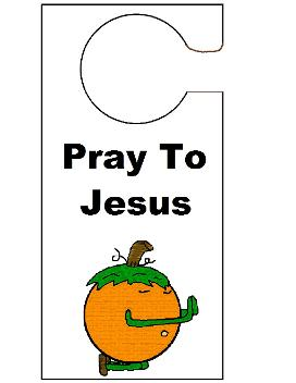 pumpkin Door knob hanger crafts
