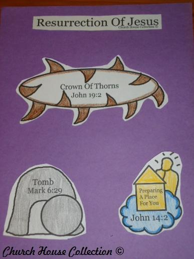 Easter Resurrection Of Jesus Christ Sunday School Crafts For Kids | Church House Collection | Tomb, Crown Of Thorns and Jesus, Resurrection of Jesus Cut Out Craft Easter Sunday School Crafts