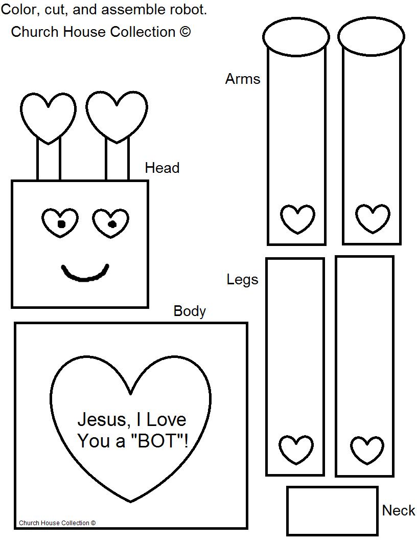 robot valentine craft jesus i love you a