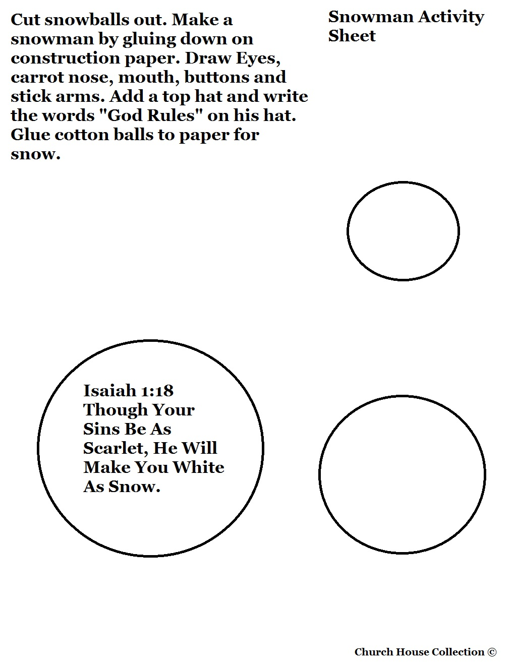 Snowman cutout sheet isaiah 118 snowman template black and white pronofoot35fo Image collections