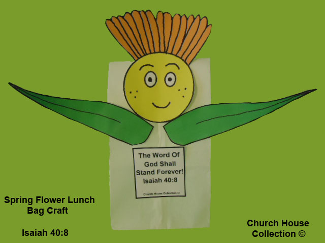 Flower Lunch Bag Craft Isaiah 40:8