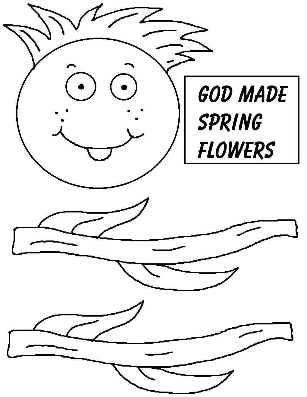 spring flower paper lunch bag craft