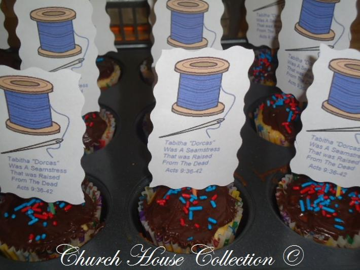 Tabitha Dorcas Raised From The Dead Needle and Thread Cupcakes